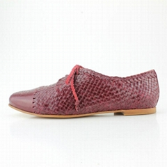 2015 new fashion dress flat shoes for women woven shoe suede leather
