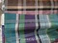 真絲棉色織格布 1