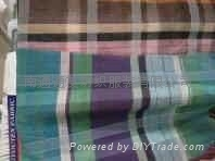 真絲棉色織格布