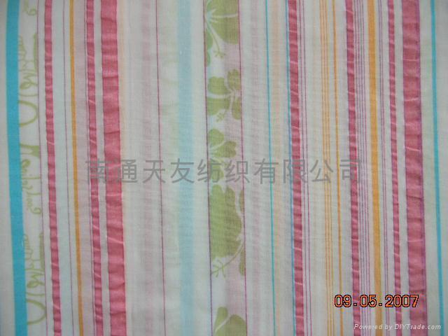 全棉色織機軋縐布 2