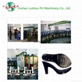 Foshan Luzhou Single Double Density Color Polyurethane Shoe Injecting Machine