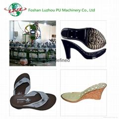 China Machinery Manufacturer PU Foaming Outsole Making Machine and Mould