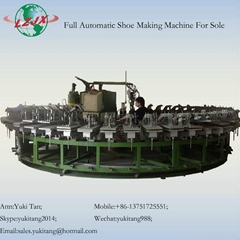Rotary Polyurethane Outsole Foam Pouring Injection PU Shoe making Machine