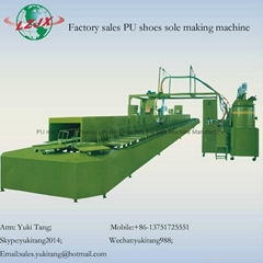 Polyurethane Safety Shoe Moulding Injection Machinery PU Sole Machine Manufactur