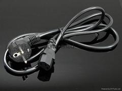 欧式电源线连接电脑母座