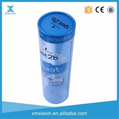 PVC PET round cylinder clear transparent packaging tube
