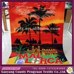 100% microfiber printed beach towel