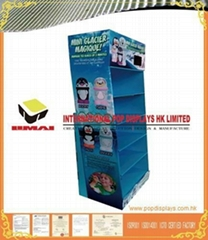 Cardboard POP Display With Cell Pockets For Toy Promotion In Store