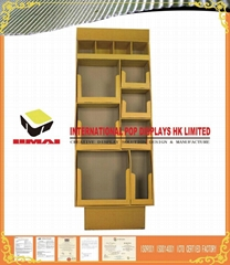 4 Tier Accompany The Round Cell  Cardboard Retail Display Box For Supermarket