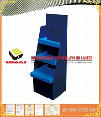 K3 Corrugated Paper With 350g CCNB Floor Display Stand