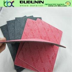 non-woven fiber insole board laminated with EVA foam used as shoe insole