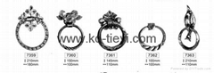 wrought iron handle for furniture
