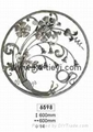 wrought iron flower panels for fence