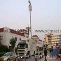 4.5m small portable lightweight camera poles and telescopic CCTV mast towers