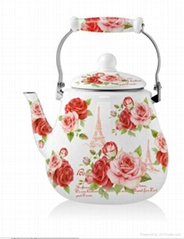 Enamel kettle 1.5L with full decal
