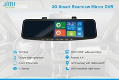 JC600 3G Rearview Mirror DVR
