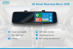 Newest gps passat Computer monitor rear view mirrorcc with rear camera wifi Blue