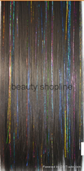 colorful hair extension synthetic clip hair extension