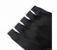 Hot sale on alibaba 100%human hair extension tape in