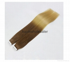 Hight quality 100%human hair extension tape on hair extension (Hot Product - 1*)