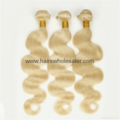 613 blonde body wave brazilian human hair extension