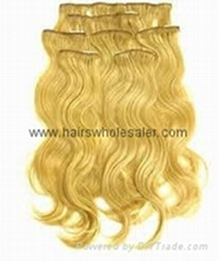 high quality cheap price 100%human hair clip hair extension
