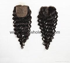 human hair silk base closure brazilian hair peruvian hair