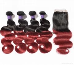 Hot sale 100%Human Hair Weave Virgin Remy Hair Soft Hair (Hot Product - 1*)