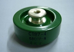 Barrl-Styled High Voltage Low Frequency Capacitors CT87 Series