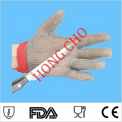 304L  Stainless Steel Cut Resistant level 5 sewing cutting Glove