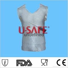 stainless steel metal mesh cut resistant sleeveless vest for butchers