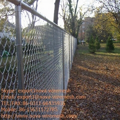 Galvanized chain link fence for sale