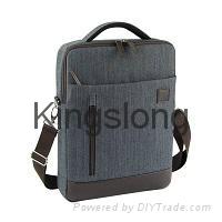 Kingslong linen waterproof backpack double shoulders 15.6 inches school bag
