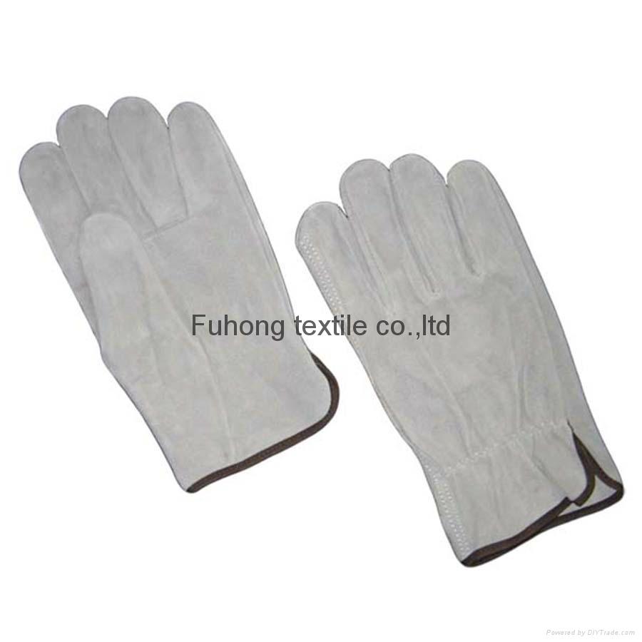 Quality full split cowhide leahter safty driving gloves  2