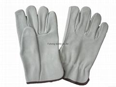 Quality full split cowhide leahter safty driving gloves
