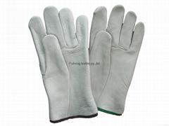 Popular crazy selling custom CE420 Keystone thumb safety grain cow leather glove