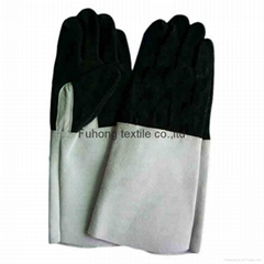 Cheap price Full palm long cuff cow leather welding safety gloves