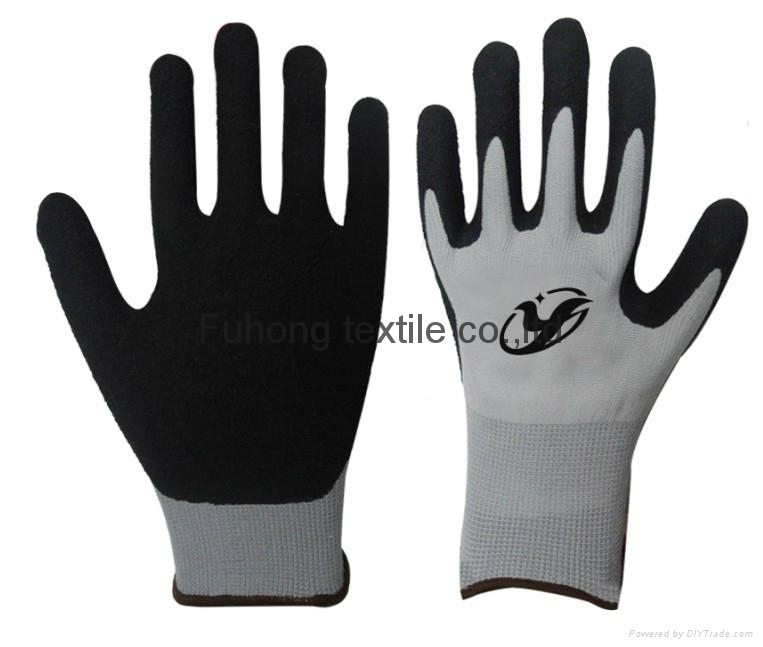 nitrile coated working safety gloves with CE DNN328  2