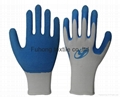 nitrile coated working safety gloves