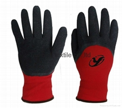 Cheap price latex coated working safety gloves with CE DNN328