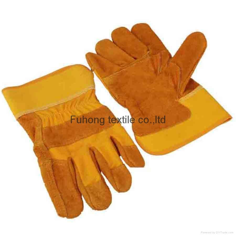 garden split cow leather gloves 1