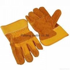 garden split cow leather gloves