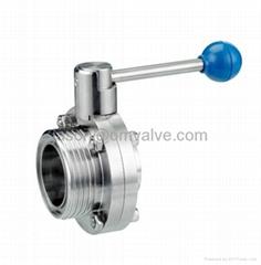 SS316 DN25.4 sanitary butterfly valve(Thread)