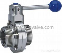 SS316 DN101.6 sanitary butterfly valve(Thread)