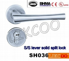 SH036 Fashionable style EN1906 class 3 fire-proof hotel SUS304 door handle