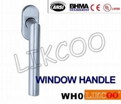 WH002 US style stainless steel lever window handle, glass door handle OEM