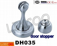 DH035 fashion magnetic door stopper stainless steel draft stopper