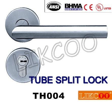 TH004 Popular lever door handle lock, split pull handle, door handles 1