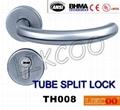 TH004 Popular lever door handle lock, split pull handle, door handles 2