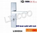 LTH001 European style casting door handle with lock plate 5
